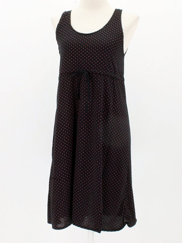Sommerkleid Maja black with red Dots