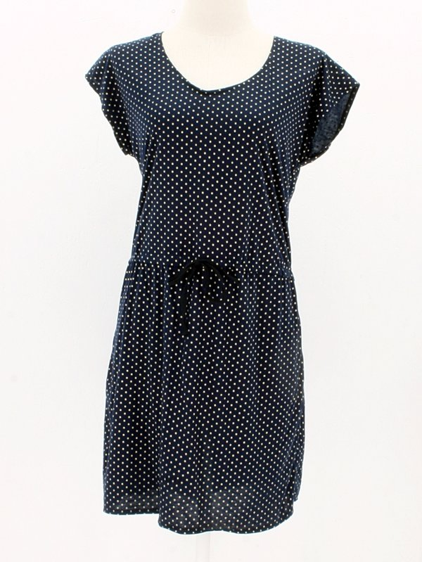 Baumwollkleid Freja Dots blue