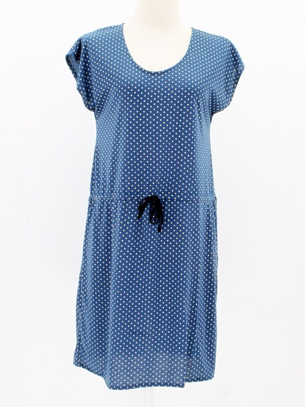 Baumwollkleid Freja Dots light blue