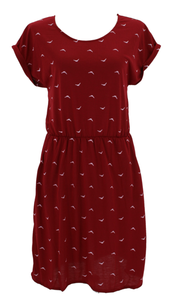 Baumwollkleid Vertigo, bird red