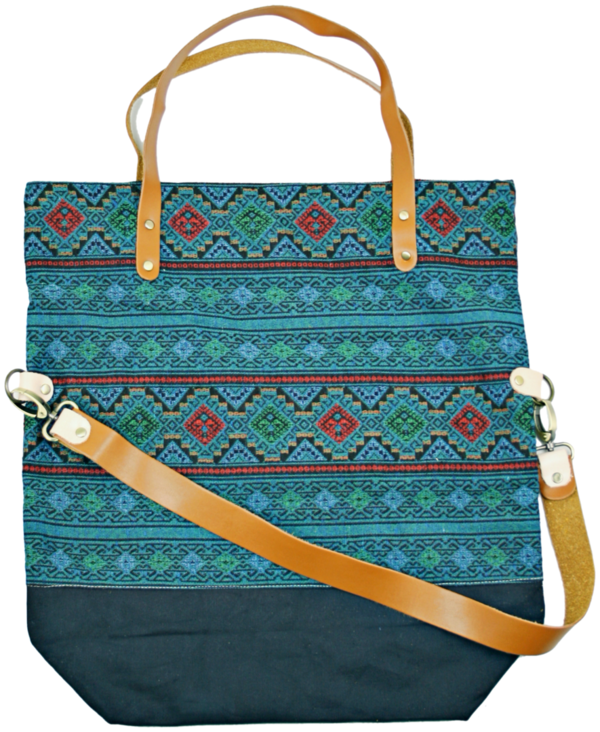 shopper bag Pine grün-blau