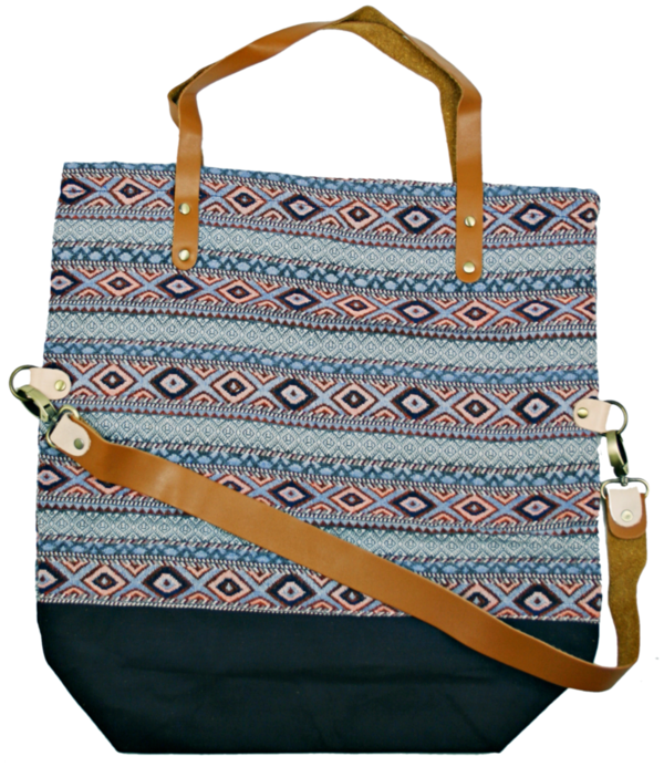 shopper bag Pine rosa-blau