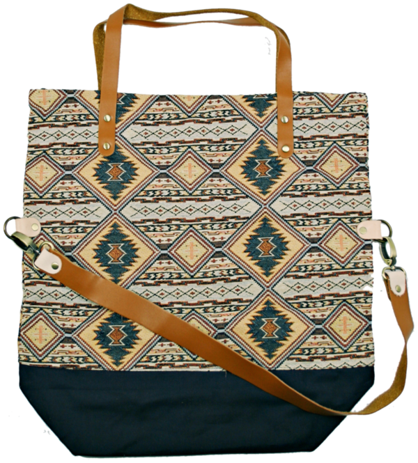 shopper bag Pine ocker-braun