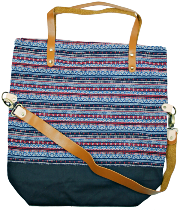 shopper bag Pine rot-blau