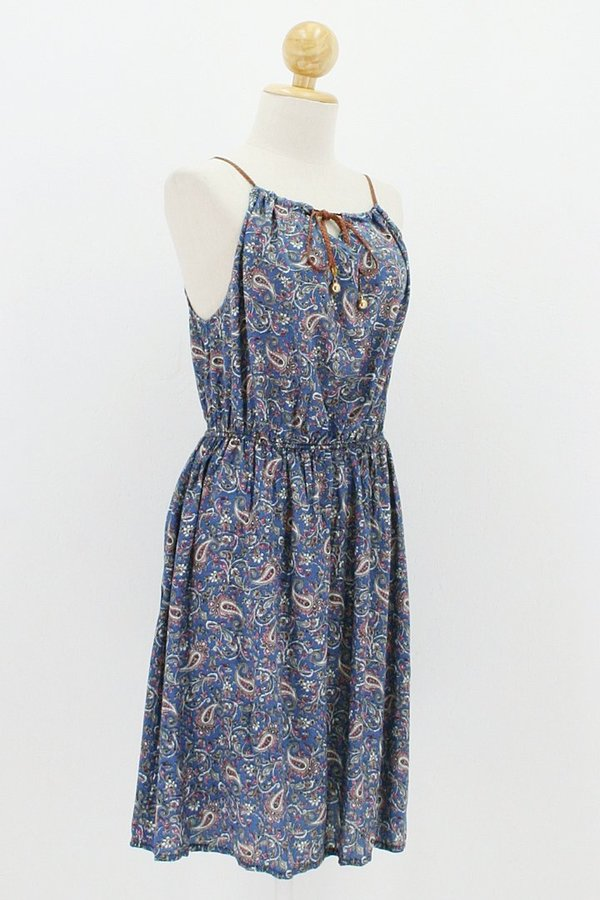 Lockeres Sommerkleid Dolly hellblau Paisley
