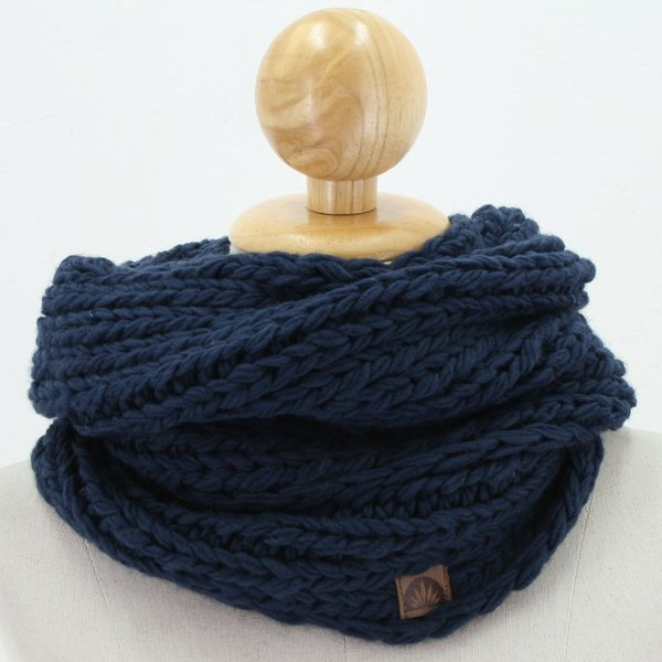 Loopschal Merinowolle Feefle, royal blau